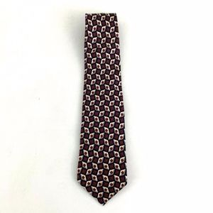 Brooks Brothers Red Patterned Silk Tie